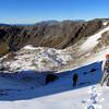 Descending back to the Turret Peak tarns.