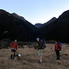 The team having finally emerged from Kakapo Stream behind.