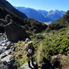 In Kakapo Stream, the Wilberforce valley floor a few hours of interesting bushbashing below.