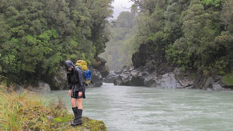 James reaching the Whakarira Gorge.