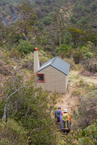 Reaching Griffin Creek Hut.