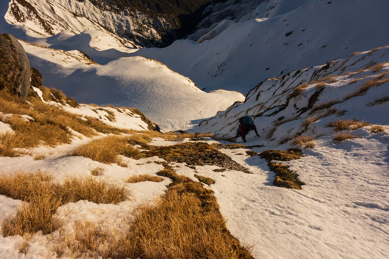 Negotiating a steep bit on the Hitchin Range (photo - James Thornton).