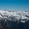On the horizon: Kensington, Cook, Tasman, Mt Adams, Smyth Range in the foreground.
