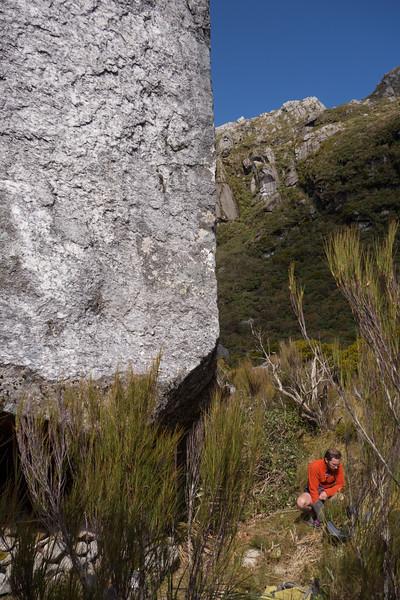 Enormous bivvy rock.