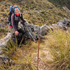 A rock wall on the ridge to Mt Smart to direct sheep down into the basin?