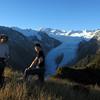 Tim , James and Yvonne enjoying a break en route to Lemmer Peak.