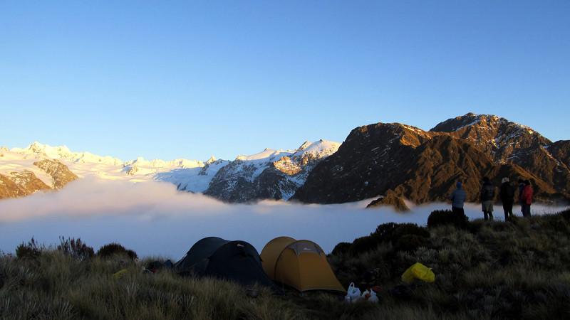 Our camp on Alex Knob.