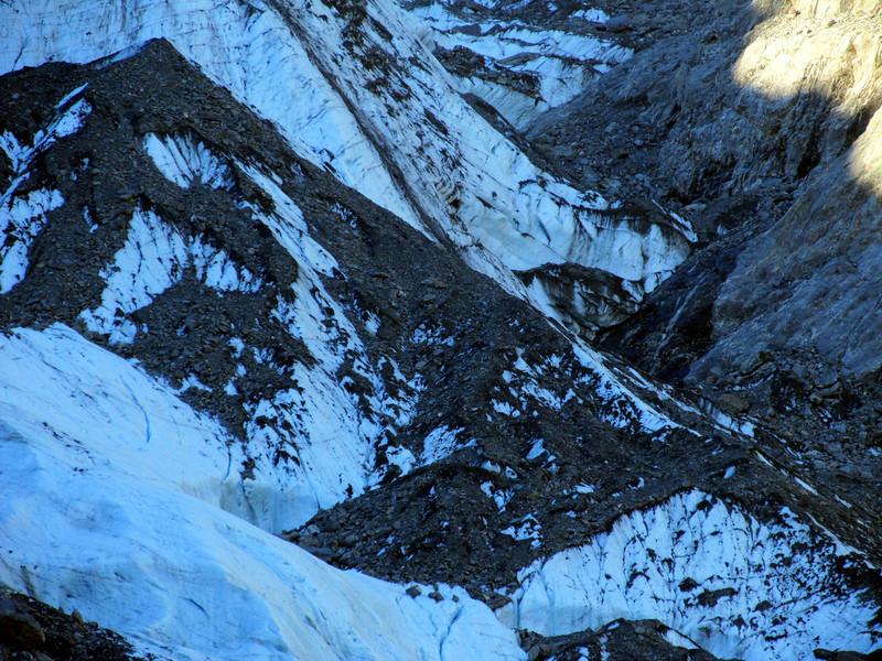 Franz Josef ice near the turn off to Castle Rocks Hut.