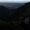 Yvonne on the ridge to Ebenezer Peak.