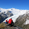 James and Tim on the summit of Lemmer Peak taking in the Franz Josef panorama.
