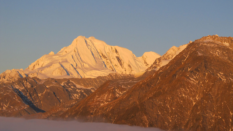 Mount Elie De Beamont at sunset.