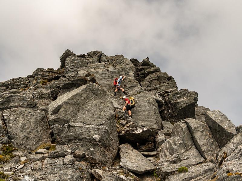 Nearing the summit of Cairn Peak.