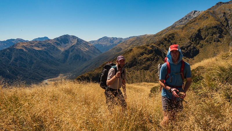 Max and Allan above bushline on the spur leading to Cairn Peak.