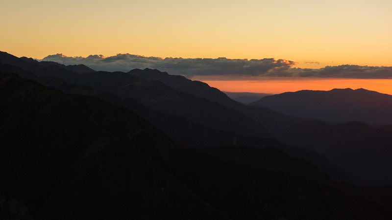 Sunset from Miserable Ridge.