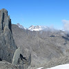 Mt Evans and Mt Whitcombe above Sawtooth Ridge.