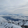 Panorama of Malte Brun, Ellie de Beaumint and Cook from the summit.