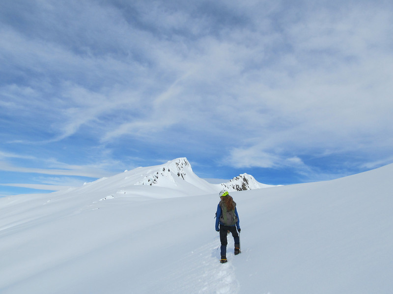 Summit ridge, the low peak on the left.