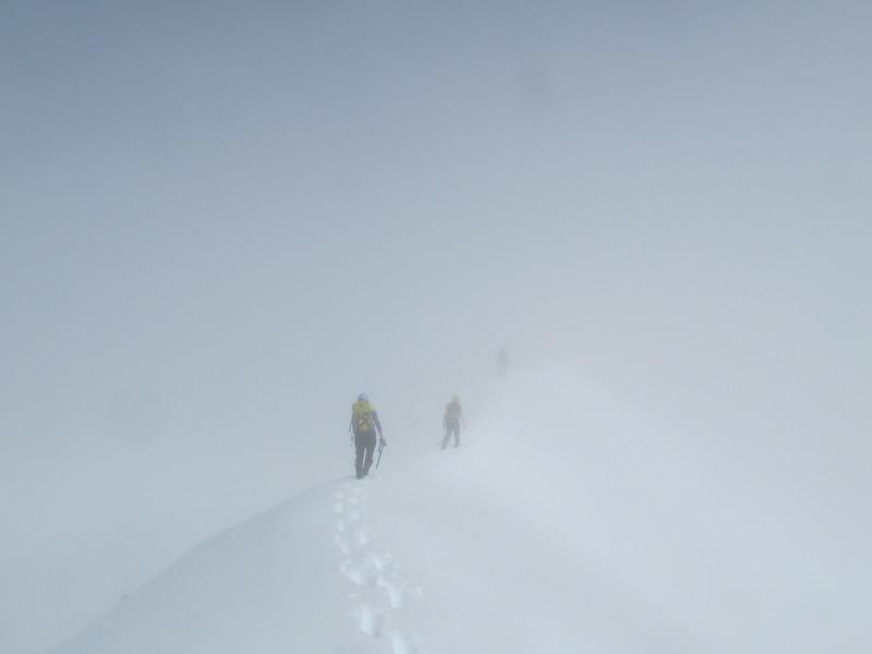 Climbing through the cloud.
