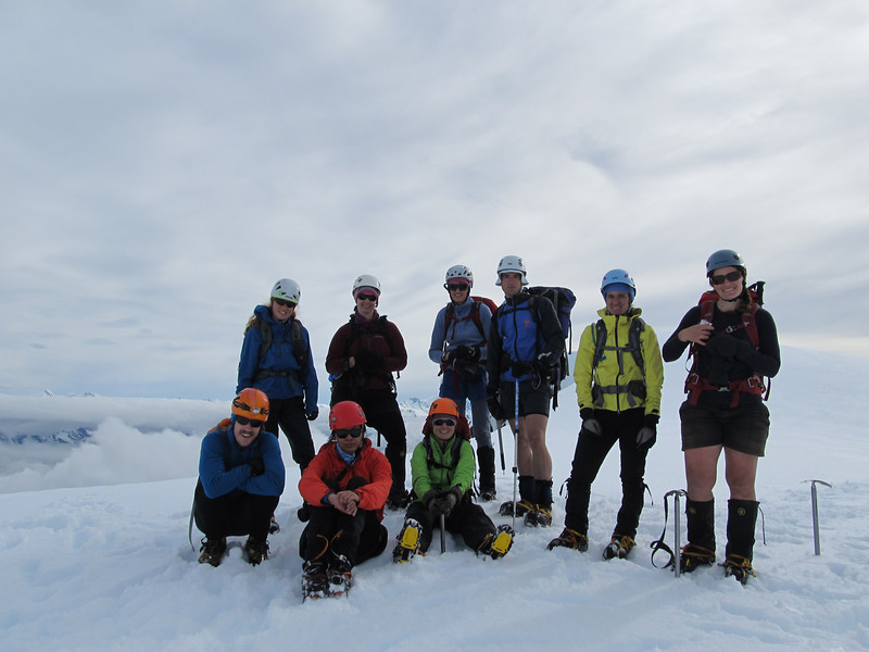 The team just below the summit.