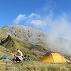 Camp below Mt Bowen.