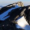 On the summit ridge just below Mt Bowen.