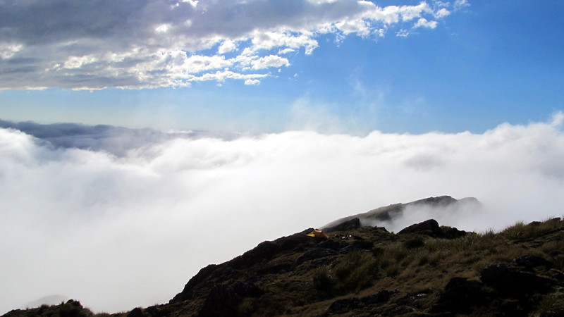 Our camp above the clouds.