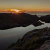 Sunset at the tarn. We heard Kiwi calling shortly after the sun had set.