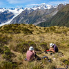 Lunch with view of Fox Glacier, Mt Tasman and Cook