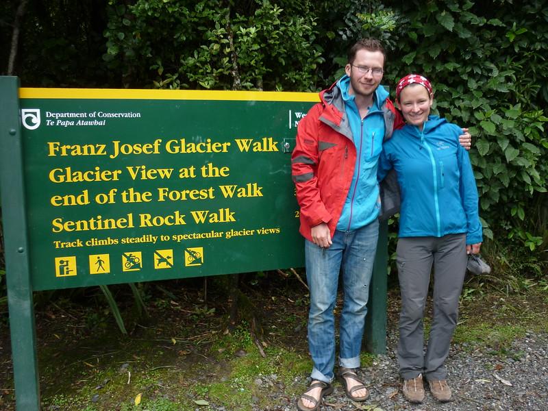 Obligatory visit of Franz Josef glacier (photo - Guenter Dickerhof).
