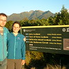 Arriving at the Lake Matheson carpark at sunset, Mt Tasman top right corner (photo - Guenter Dickerhof).