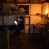 Reading time inside Mullins Hut.
