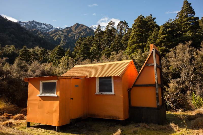 The old Cedar Flats Hut.