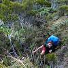Me battling with some scrub below Pt 1240m  (photo - James Thornton).
