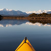 A cracker morning on the lagoon, looking up the Whataroa.