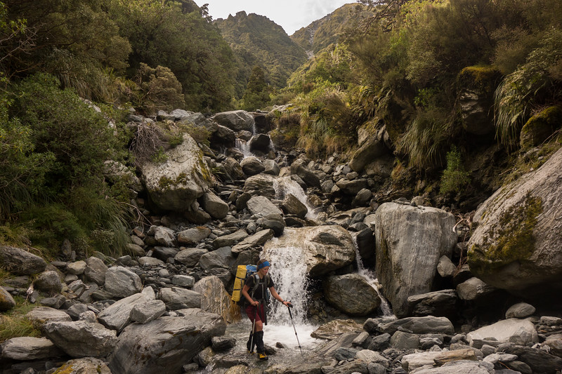 A tributary of Griffin Creek draining from near Scottys Sadde. Some interesting monkey-ing was required to get around a few waterfalls (photo - James Thornton).