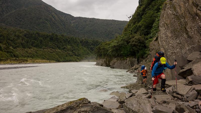 The lower Wanganui.