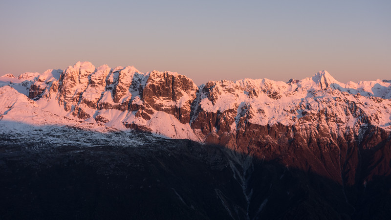 Lord Range and Malcolm Peak at sunset.