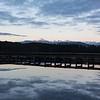 Beautiful start to a beautiful trip - cold sunrise at Lake Mahinapua.