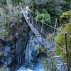 Crossing the Waitaha at the top end of spectacular Morgan Gorge a couple of hours later.