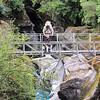 Spectacular bridge across the lower Kokatahia gorge.