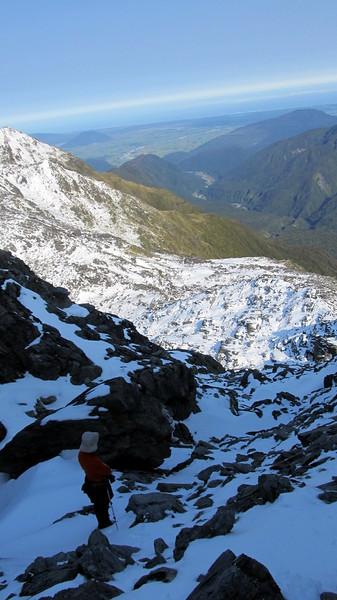 En route to Mt Lathrop, Styx valley below.