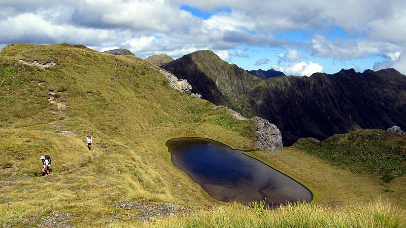 On the Tara Tama Range, Razorback Ridge on the right.