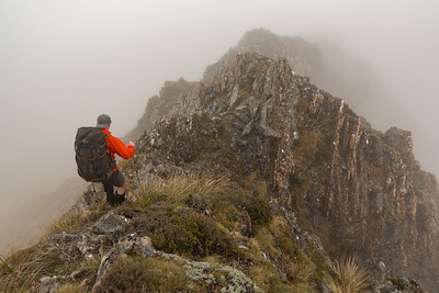 Some fun ridge travel along the tops above the Taramakau.