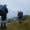 Tom and I on the Toaroha Range (photo - Allan Brent)