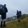 Tom and I on the Toaroha Range (photo - Allan Brent)