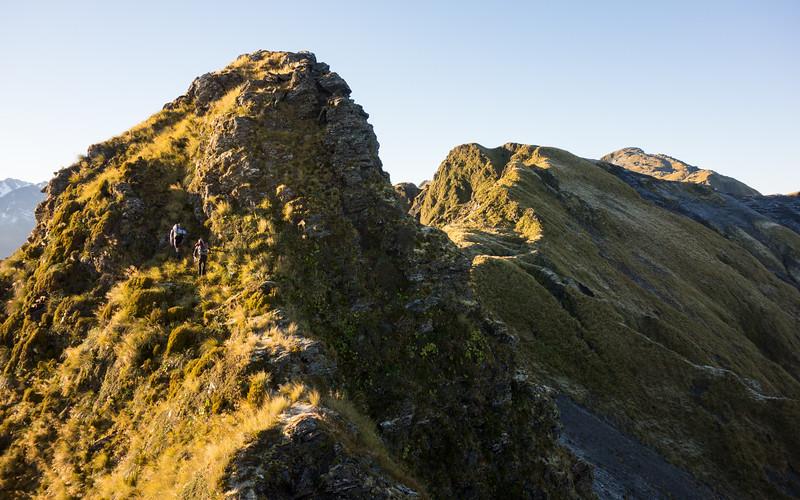 Travel along the Toaroha Range the next morning.