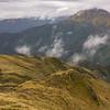 Looking back down to Pinnacle Biv and across the Kokatahi to Tyndalls Knob.