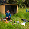 Nothing but a good fire at our first night at Hunters Hut to chase away doubts about the feasibility of the trip induced by a dubious forecast (photo - James Thornton).