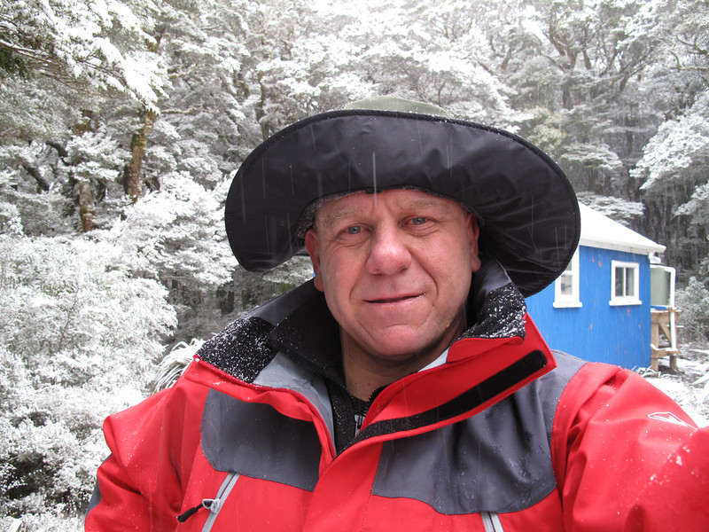 Just arrived at Blue Range Hut in very beautiful and picturesque snow coating the trees and roof top. It may be cold but it's worth it for the beautiful surroundings.