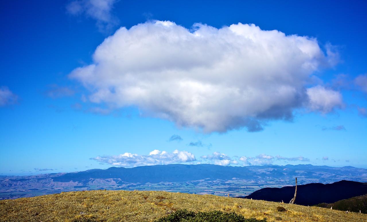 From far summit past Telecom Tower Mt Climie Apr 2012